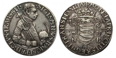Erdély Báthory Zsigmond (1581-1602) tallér 1589 NB. RRR!