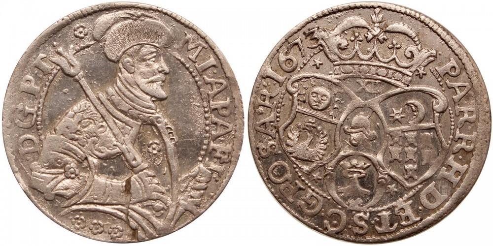 Erdély Apafi Mihály (1661-1690) XII denáros garas 1673 Brassó