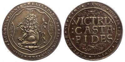 Erdély Bocskai Erzsébet ezüst tallér (XIX.századi veret, Resch?)