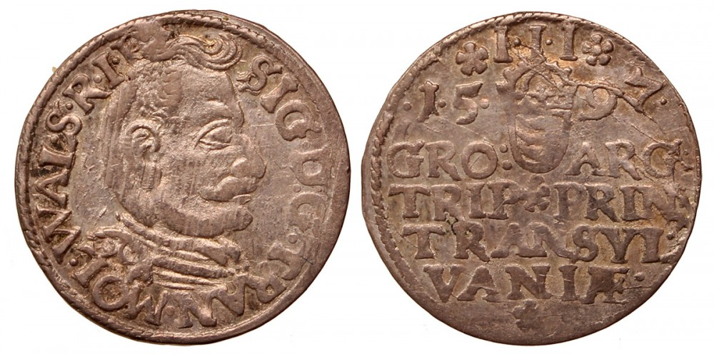 Erdély Báthory Zsigmond 3 garas 1597 R!