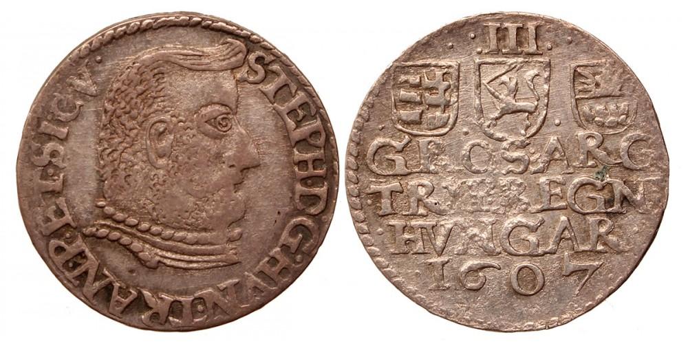 Erdély Bocskai István 3 garas 1607
