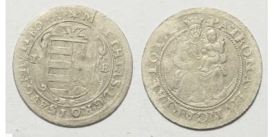 II. Mátyás garas 1617 NB