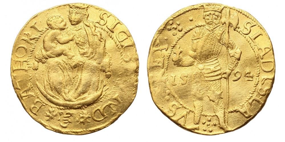 Báthory Zsigmond aranyforint 1594