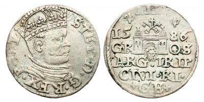 Lengyelország Báthory István 3 garas 1586 Riga