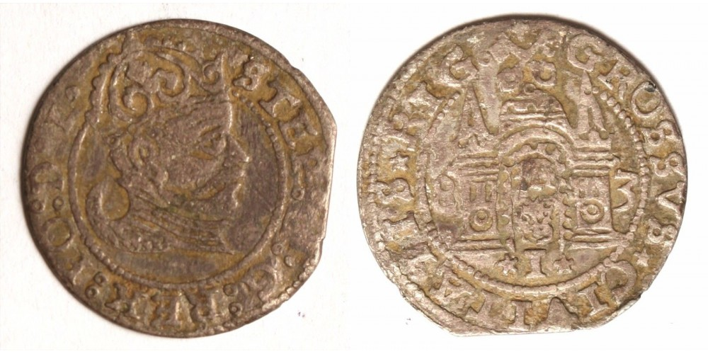 Lengyelország Báthory István garas 1583 Riga R!