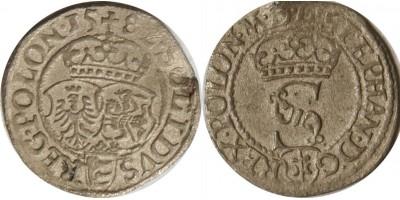 Lengyelország Báthory István schilling 1582 Olkusz