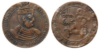 Bocskai István tallér 1605 gyűjtői másolat 19. század