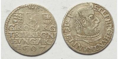 Bocskai István ezüst 3 garas (dutka) 1607