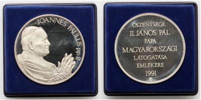 Pápalátogatás hazánkban ezüst érem 1991