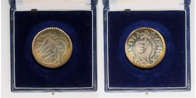 Szent István király halálának 950.évfordulójára ezüst érem 1988