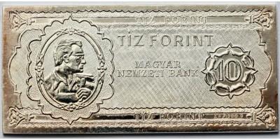 50 éves a forint ezüst 10 forintos bankjegy 1946-1996 BU