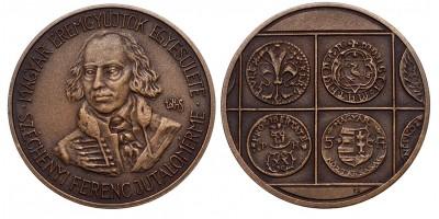 MÉE Budapest Széchenyi Ferenc piefort jutalom érem 1999
