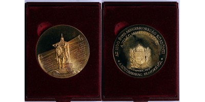 Millecentenárium ezüst érem a Köztársasági elnöktől 1996