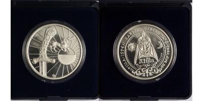 Attila ezüst emlékérem 1993