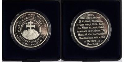 Magyar Millennium 896-1896 ezüst érem