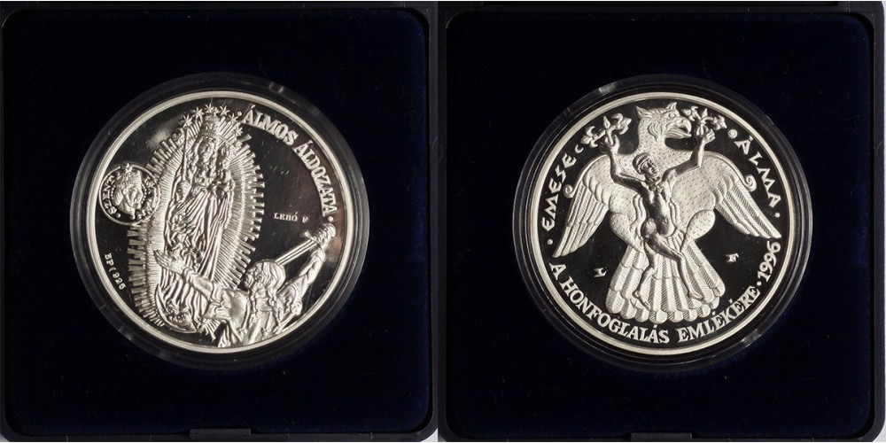 Millecentenárium 896-1996 érem PP Emese álma