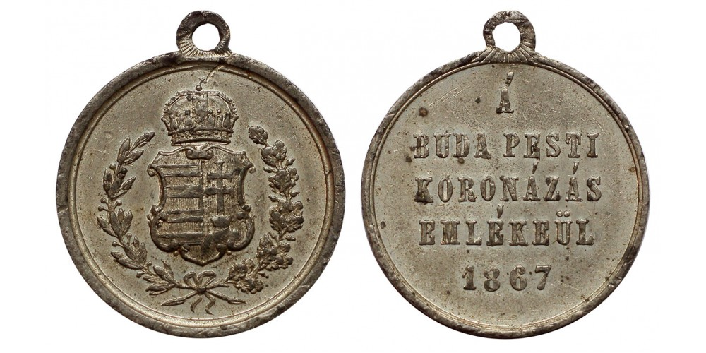 Ferenc József budai koronázására 1867 ón emlékérem