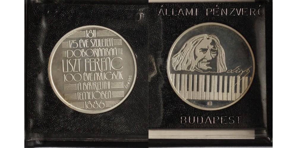 Liszt Ferenc ezüst emlékérem