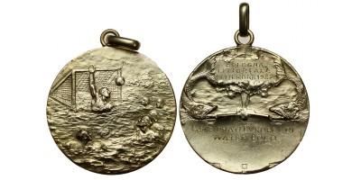 Vízilabda Európa Bajnokság Bologna 1927 A győztes Magyar csapat aranyérme! RR