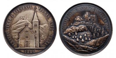 Drégely vára, Szondi György 1884 ezüst érem