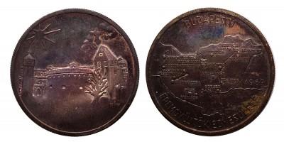MÉE Budapest egyesületi ezüst  alapíró érem 1969