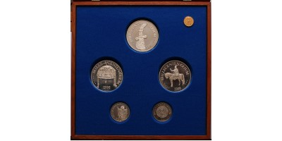 Millecentenárium ezüst érem szett 1996