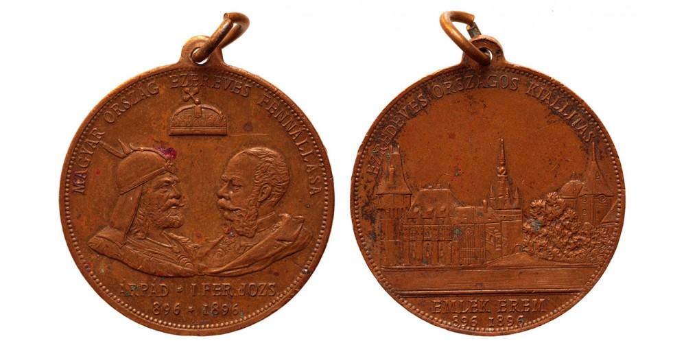 Ezredéves Országos Kiállítás Emlékérem 896-1896