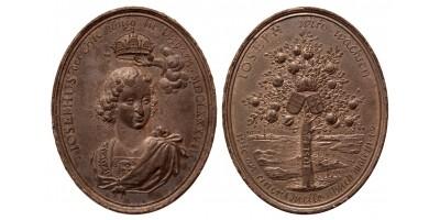 I. József koronázási érem Pozsony 1687 RRR!