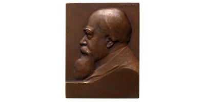 Bruck Lajos festőművész 1846-1910 emlékplakett