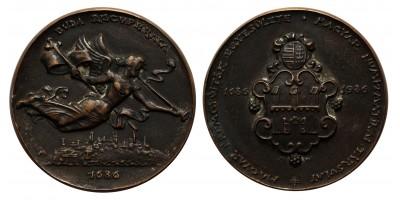 Buda Recuperata 1686-1986 emlékérem