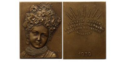 EMAOSZ Egyesült Magyar Amatőrfényképezők Országos Szövetsége Budapest 1939 díjérem