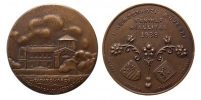 I. Nemzetközi Művészi Fénykép Kiállítás Tatatóváros 1938 díjérem