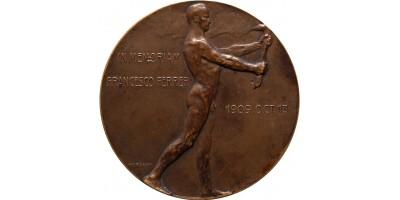 In Memoriam Francesco Ferrer 1909 emlékérem