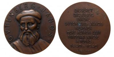 Gutenberg János 1440-1940 emlékérem