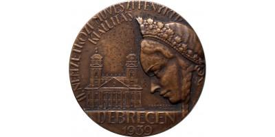 II. Nemzetközi Művészi Fénykép Kiállítás Debrecen 1939 díjérem