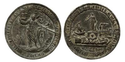 Lipcsei Csata / Népek Csatája 1813-1863 emlékérem