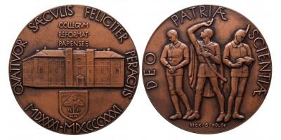 Pápai Református Kollégium 400 éves 1531-1931 emlékérem