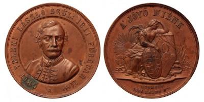 Gróf Teleki László halálára 1861 emlékérem R!