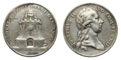 II.József látogatása Gentben ezüst érem