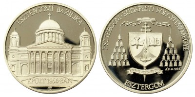 Esztergomi Bazilika ezüst érem