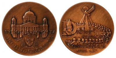 Esztergomi bazilika bronz érem