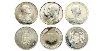 Horthy's reburial medal set 1993