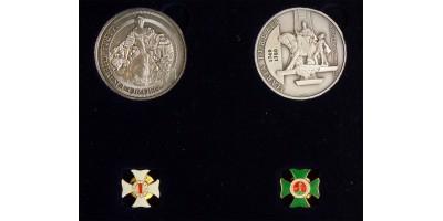 Mária Terézia és Szent István rend ezüst érem pár és jelvények