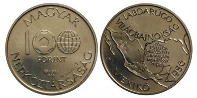 100 forint Foci VB II. 1985 próbaveret