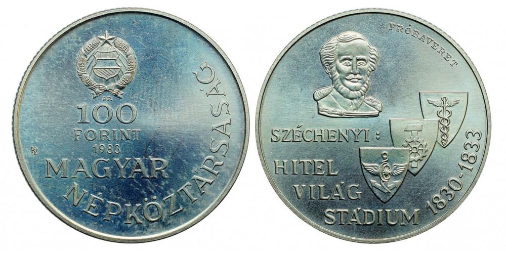 100 forint  Széchenyi István 1983  tervezet