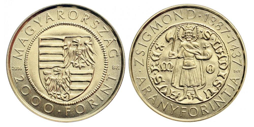 Zsigmond aranyforint 2000 Forint 2016