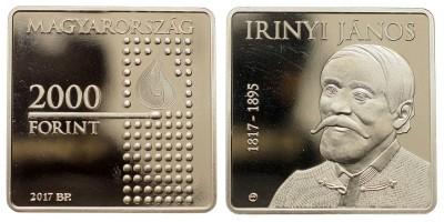 2000 forint Irinyi János 2017