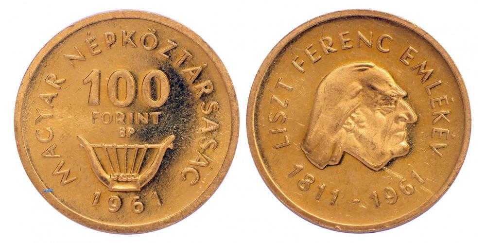 100 Forint Liszt 1961