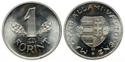 1 Forint 1947 jelöletlen ARTEX utánveret