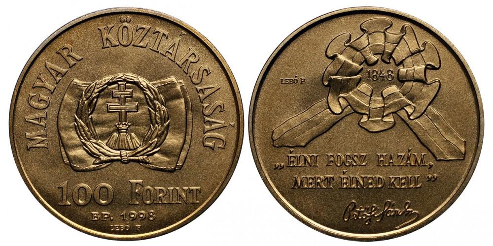 100 forint a szabadságharc 150.évfordulójára 1998 BU